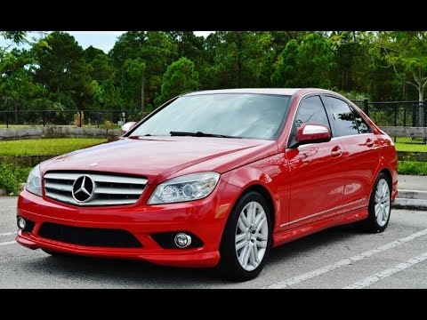 2009 Mercedes Benz C 300 Red On Tan For Sale In Miami Fl 33155