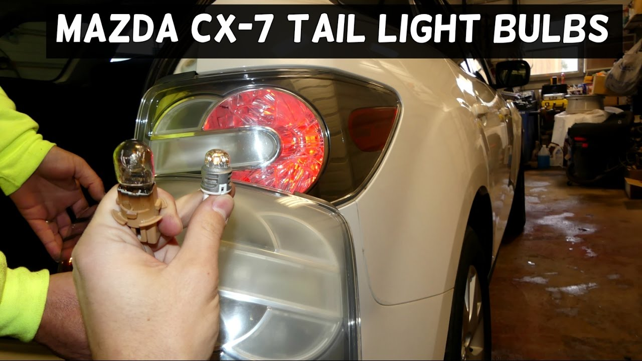 Mazda Cx 7 Rear Tail Light Brake Turn Signal Bulb Replacement