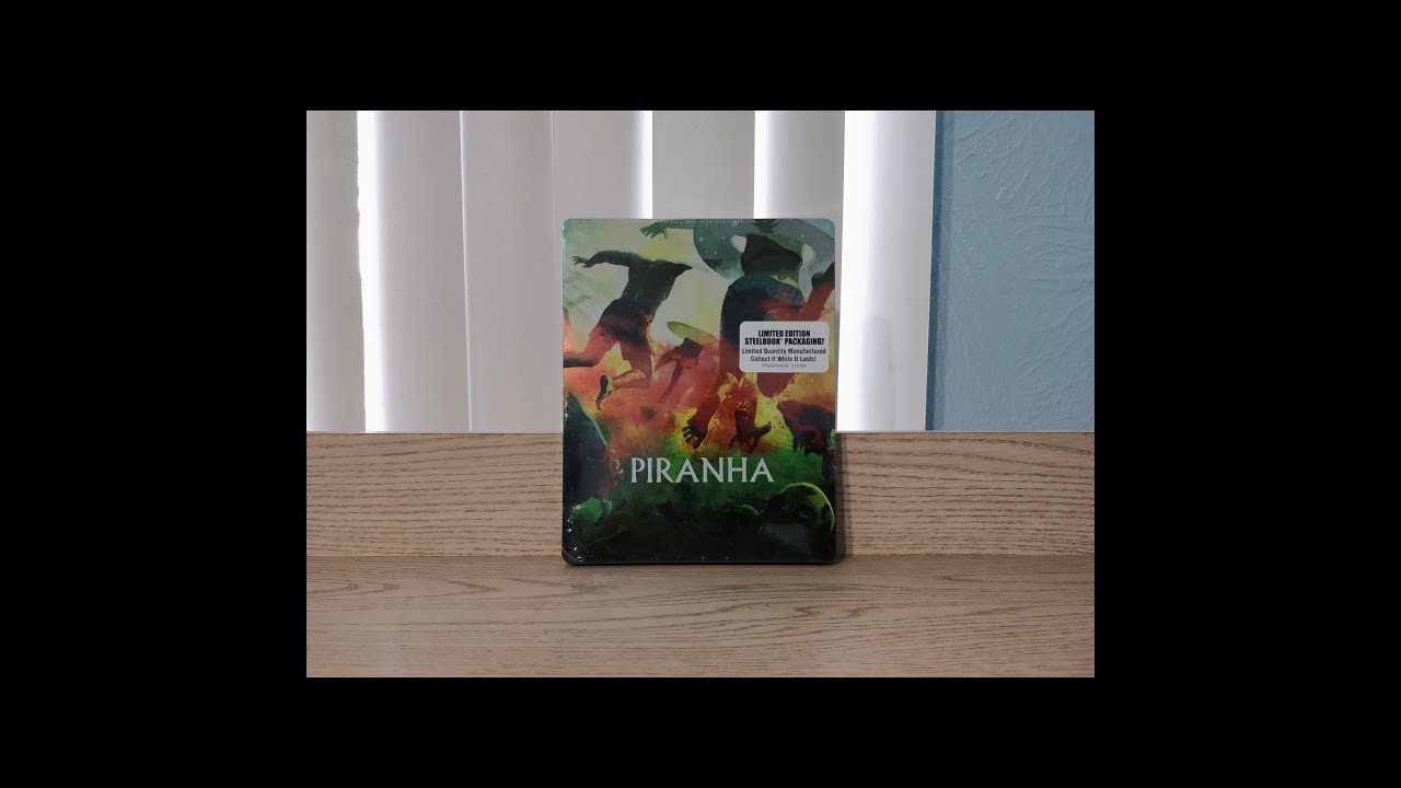 Download Piranha Steelbook Blu-Ray Unboxing With Lithograph Poster - Scream Factory