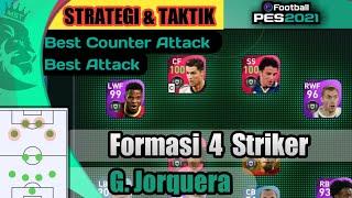 Formasi 4 Striker 4-2-4 Jorquera PES 2021 Mobile   Review Gameplay