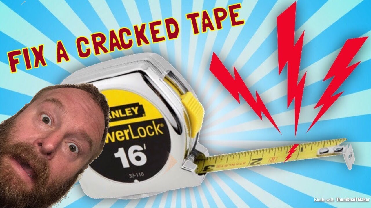 How To Fix A Tape Measure Thats Cracked Youtube