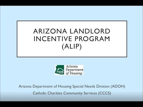 Arizona Department of Housing - Arizona Landlord Incentive Program (ALIP)