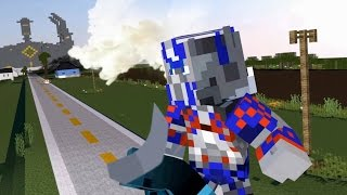Minecraft Transformers: Optimus Prime vs Galvatron | Transformers La Era de la extinción | Animacion