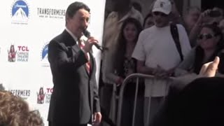 OPTIMUS PRIME Peter Cullen Speech @ handprint ceremony, Chinese Theatre