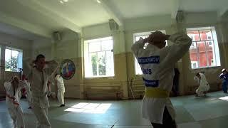 Мастер класс с тренером России  по дзюдо 1 часть.Егорьевск.Все в  живую.