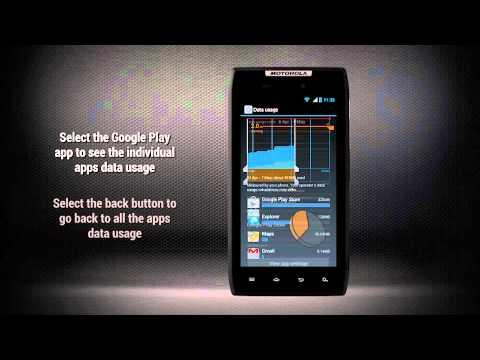 Motorola RAZR a Android ICS - Správce datových přenosů