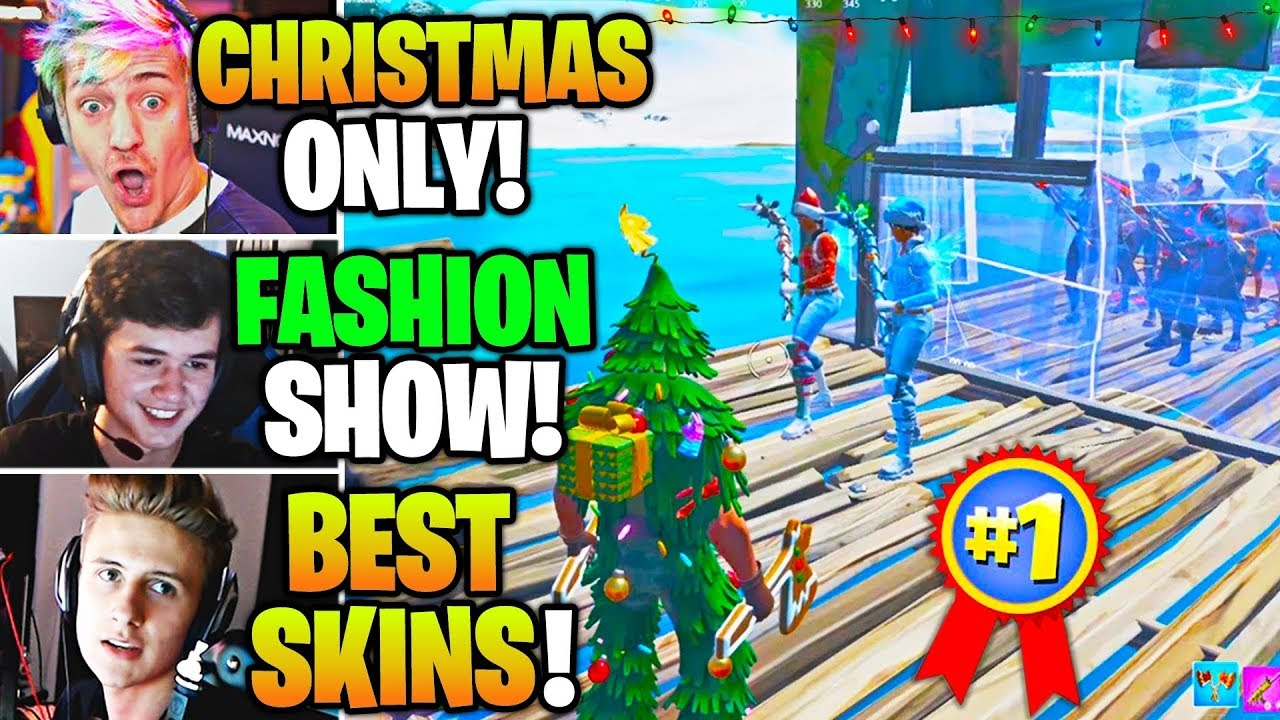 Streamers Host CHRISTMAS Skin & Emote FASHION SHOW Contest ...