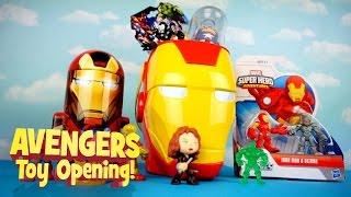 AVENGERS Toys Mega Toy Opening with IRON MAN TOYS & Playskool Spiderman Toys by KidCity