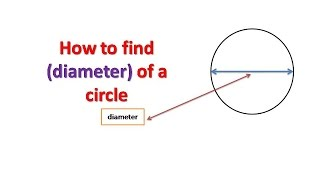 How to find (diameter) oḟ a Circle