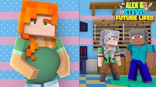 Download Video STEVE'S TEENAGE DAUGHTER ALEX IS PREGNANT!! Minecraft ALEX & STEVE FUTURE LIFE MP3 3GP MP4