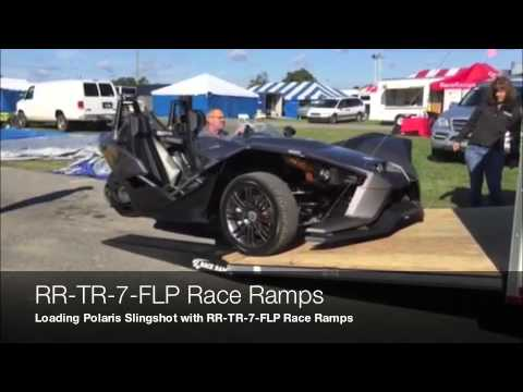 RR-TR-7-FLP Race Ramps for trailer doors with flap extension.