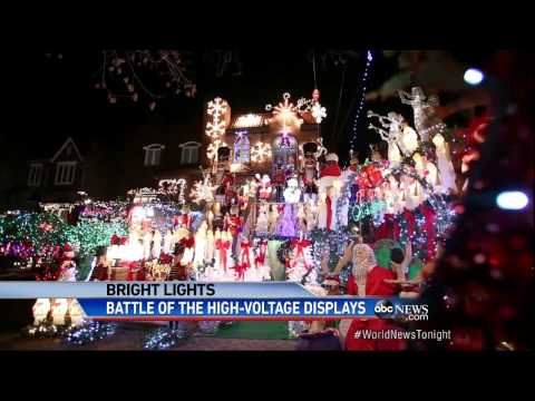 Battle of the Christmas Lights: Lights So Bright They Can Be Seen From Space