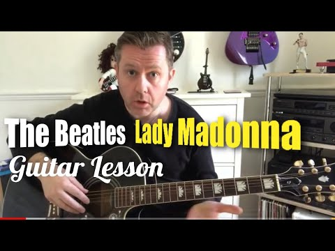 Lady Madonna - The Beatles - Acoustic Guitar Lesson (Guitar Tab)