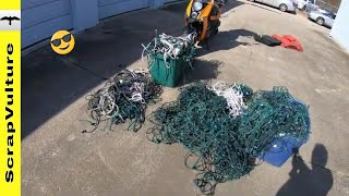 Scrapping Insulated COPPER Wire & Selling to Scrap Yard
