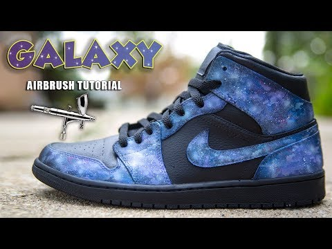 HOW TO AIRBRUSH GALAXY PRINT | 2 MINUTE TUESDAY