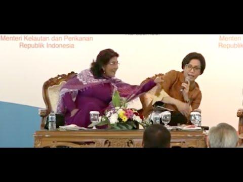 "Gemas! Sri Mulyani Dicubit Susi Pudjiastuti (Duo Srikandi Hebat ""Pembantu"" Presiden Jokowi)"