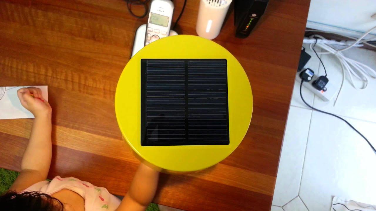 Ikea Solar Powered Table Lamp Youtube