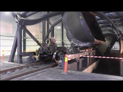 Unloadingstation iron ore
