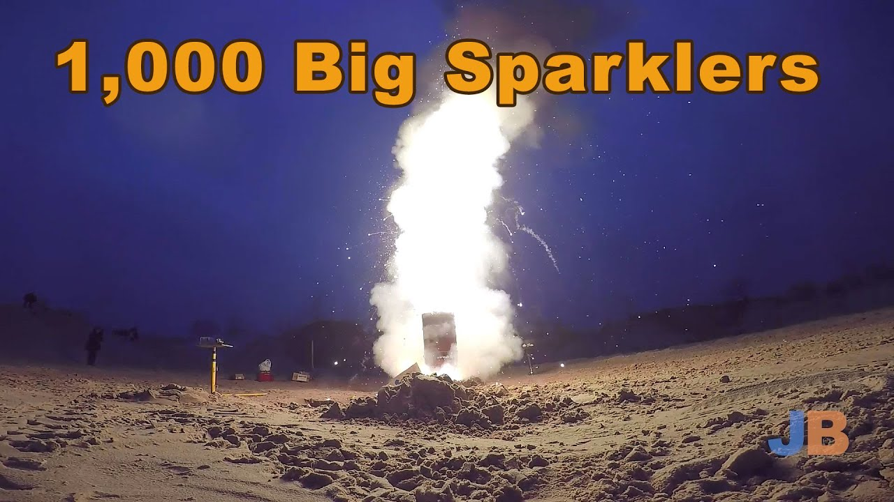 1000 Big Sparklers YouTube
