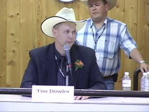 Tim Dowler 2007 Canadian Livestock Auction Competition -5th place