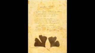 Willy Merz, Le Divan Oriental-Occidental (2002), 3. Gingo Biloba (lyrics: J.W. von Goethe)