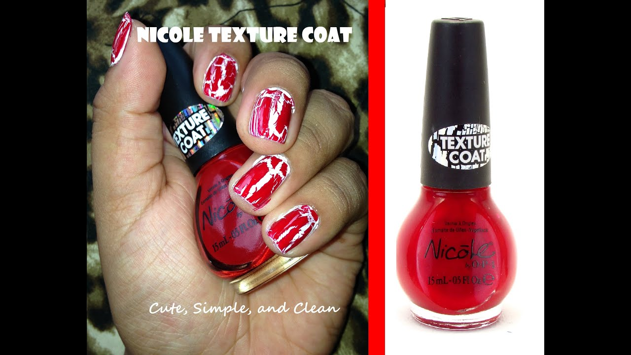 Nicole by OPI Red Texture Coat Demo - YouTube
