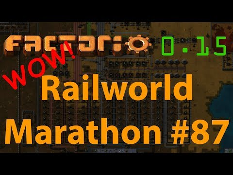 Factorio Railworld Marathon #87 - oil storage and distributi