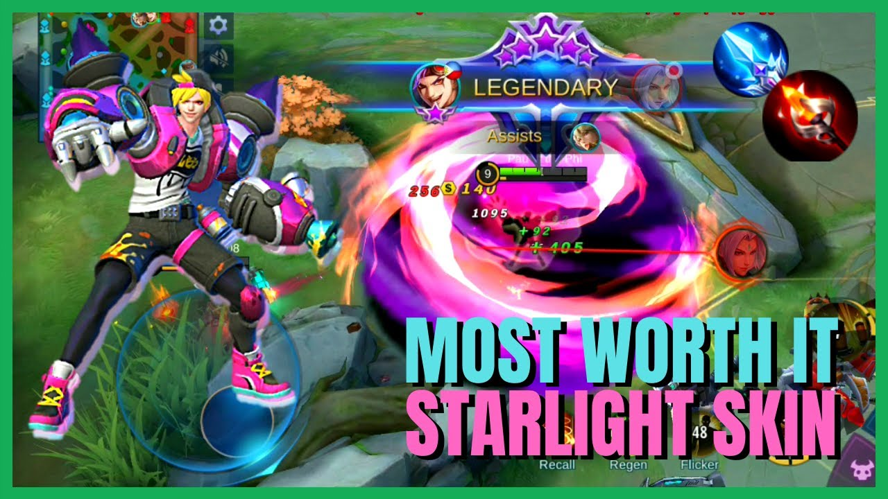 X Borg Graffiti Fashion Starlight Skin X Borg Mage Build Gameplay Mobile Legends Bang Bang Youtube