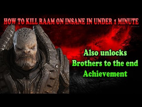 Gears Of War: Ultimate Edition How To Kill RAAM In Under 1 MINUTE!!!!!!