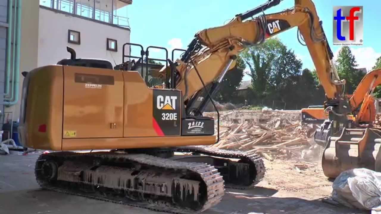 brand new caterpillar 320e l triple boom demo site germany 2015 rh youtube com Caterpillar 420E Caterpillar 349E