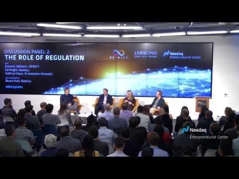 Ed Knight of Nasdaq, Kathryn Haun of Andreessen Horowitz & Dominic of DFINITY, Panel Discussion