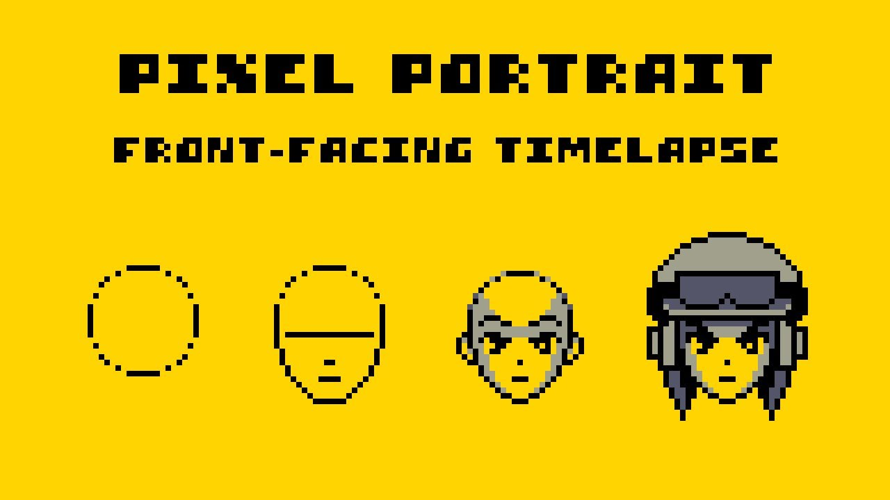 Pixel Art Portrait | Timelapse and Commentary