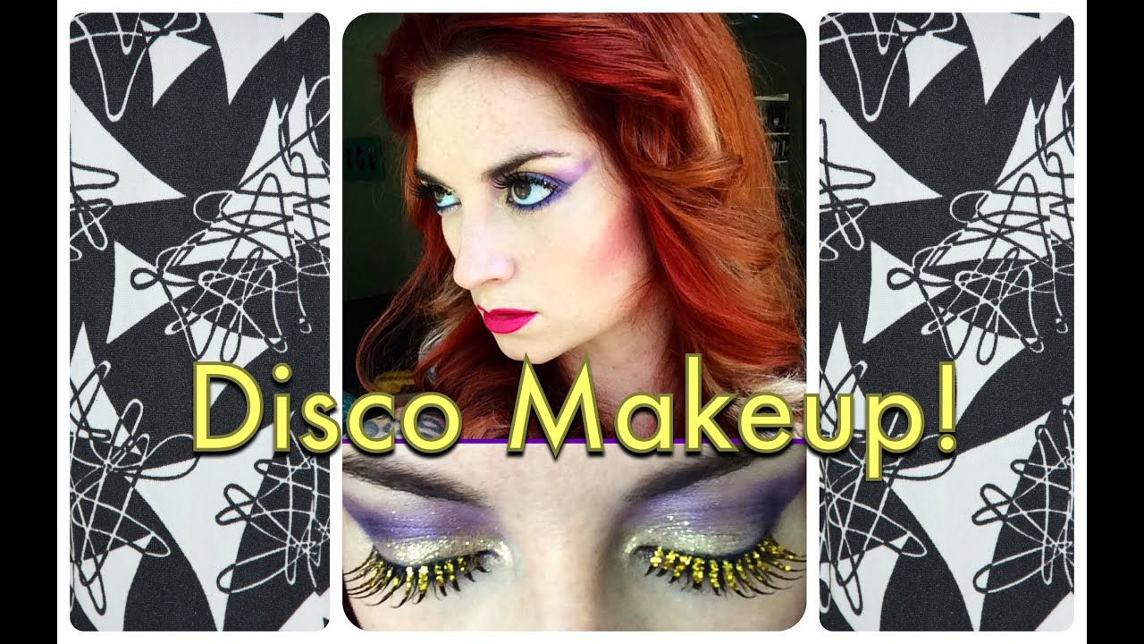 Vintage 1970's Sparkly Disco Makeup Tutorial by CHERRY DOLLFACE