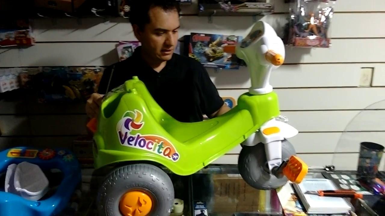 dbb5d2d699 Unboxing Carrinho de passeio triciclo velocita calesita - YouTube