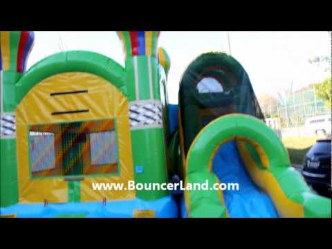 BouncerLand  - Balloon Inflatable Bounce House Slide Combo with Pool