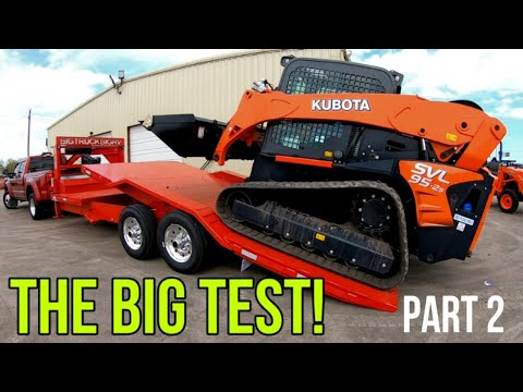 Testing My New Tilt Deck Trailer From Texas Pride Trailers With EWALD Kubota! Part 2 Of 2