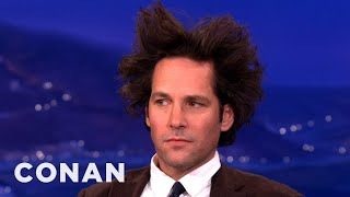 "Paul Rudd Is Prepping For ""Anchorman 2"" - CONAN on TBS"