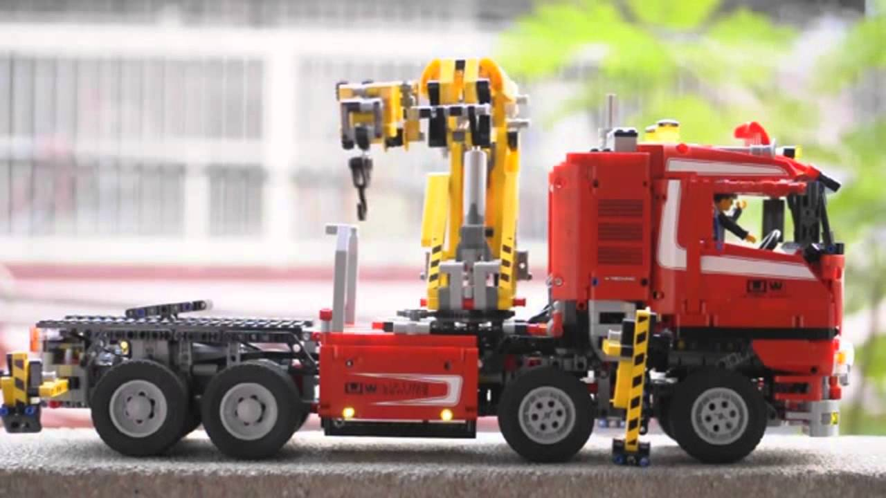 LEGO TECHNIC Crane Truck 8258 Full Motorized Review