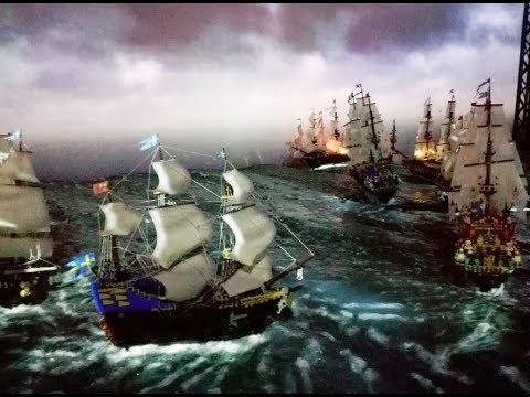 Battle of Oliwa - Polish victory over Swedish Navy in Lego