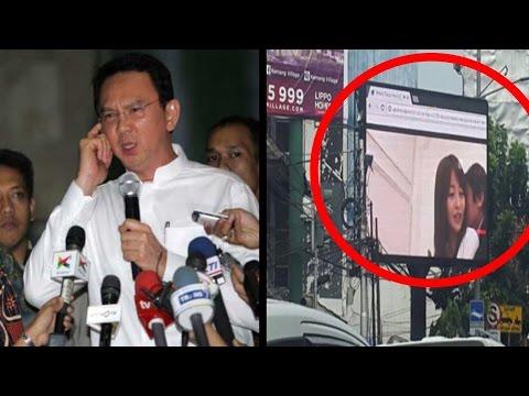 [heboh] Layar LED depan kantor Walikota Jaksel Tayangkan Video Bokep Jepang