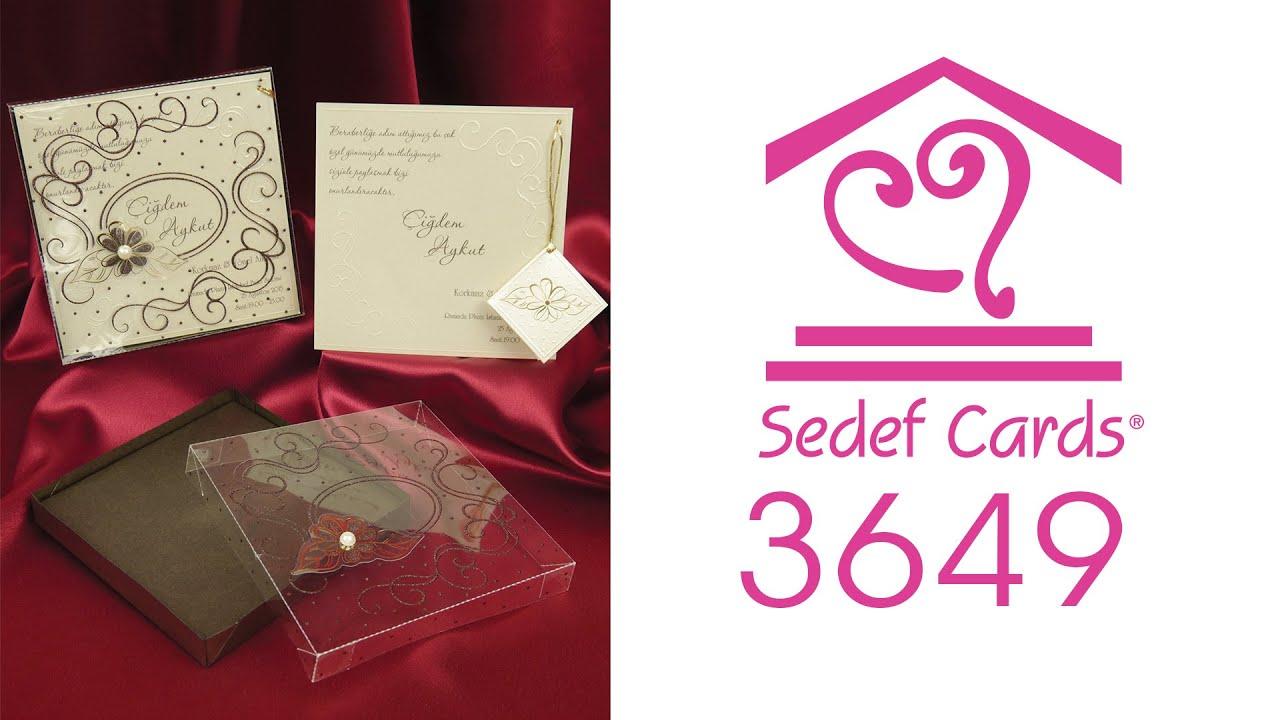 Sedef Cards ©   3649   Sedef Collection   Düğün Davetiyeleri   Wedding  Invitation