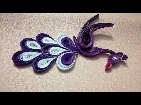 DIY Home made Paper Peacock use with Quilling Paper