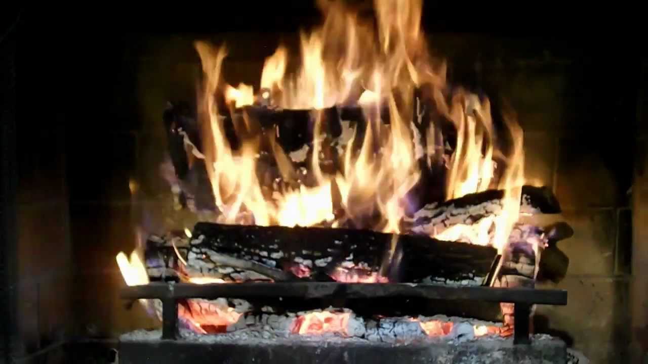 The best warm natural fireplace with crackling sounds Great virtual fireplace yule log  YouTube