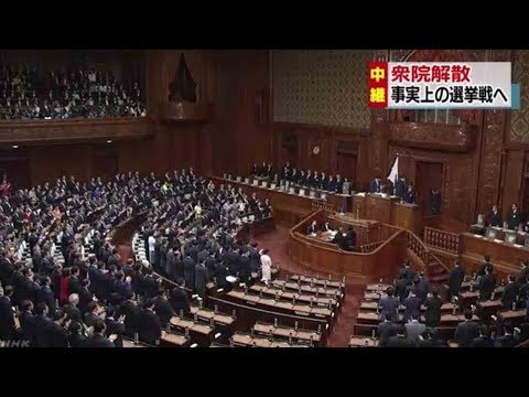 Japan's lower house of parliament dissolved for general election