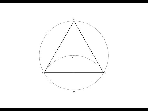 How to draw an equilateral triangle inscribed in a circle ...