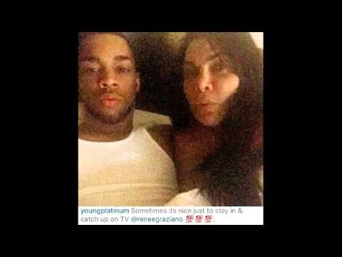 Renee Graziano & YoungPlatinum in bed selfie! MobWives star dating musician or just friends?