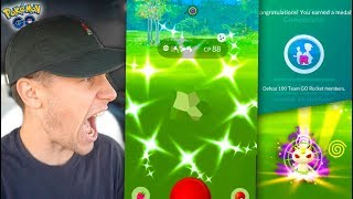 NEW UPDATE + CATCHING A NEW SHINY! Team GO Rocket Hunt Continues… (Pokémon GO)