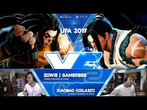 SFV: ZOWIE Gamerbee vs XiaoBao (Cola321) - UFA 2017 Top 8 - CPT 2017