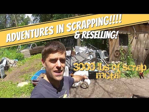 3000 lbs of Scrap Steel in ONE DAY - Scrapping and Reselling VLOG and cleaning up the yard