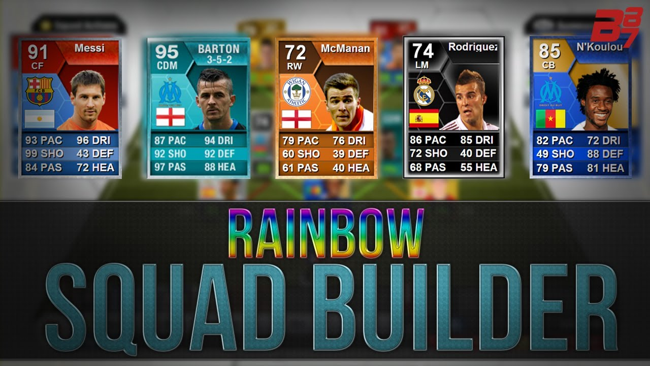 FIFA 13 Ultimate Team Squad Builder Hybrid | THE BEST EVER RAINBOW